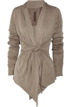 Tie-front jersey cardigan, Rick Owens Lilies