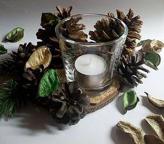 D.Plata / Svietnik Zimná pohoda Candle Holders, Candles, Porta Velas, Candy, Candle Sticks, Candlesticks, Candle, Candle Stand