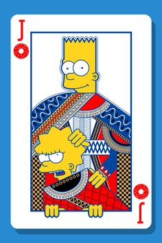 a família cartão Simpsons on Behance