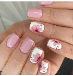 Best Nail Designs of 2019 – Latest Nail Art Trends – 17 These nail designs will be your indispensable. Stamp this summer with the latest trend nail designs. these great nail designs will perfect you. Now let's take a look at these designs Nail Design Spring, Fall Nail Art Designs, Spring Nail Art, Cute Nail Designs, Acrylic Nail Designs, Pedicure Designs, Nail Art Flowers Designs, Nails Design Autumn, Summer Nail Designs