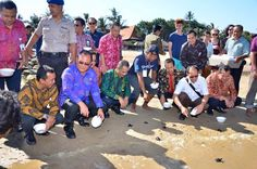 Day 1st #SanurVillageFestival2015 #Sanfest2015 baby turtle release by Indonesian tourism Minister and Chairman  at sanur Beach