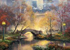 Central Park - Manhattan, New York / Vereinigte Staaten von Amerika / United States of America / USA - Herbst / Autumn / Fall - Brücke / Bridge - Laterne / Lantern