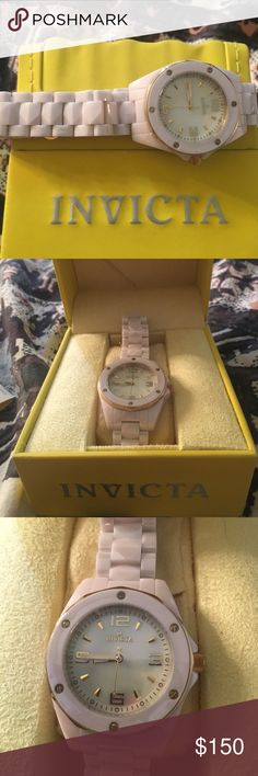 BRAND NEW PINK INVICTA WATCH Brand new pink invicta woman's watch! Comes with box! Never been worn! Invicta Jewelry
