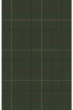 Highlander Area Rug - loden/olive green rug with navy blue, red and gold plaid pattern
