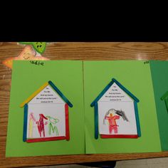 """Sunday School craft-""""as for me and my house we will serve The Lord"""""""