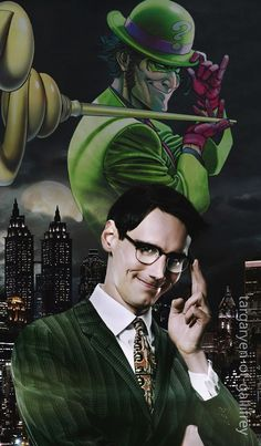 Gotham - Edward Nygma (Cory Michael Smith) Gotham Cast, Gotham Tv, Edward Nygma Gotham, Riddler Gotham, Cory Michael Smith, Tim Drake Red Robin, Victor Zsasz, Deadpool Funny, Joker
