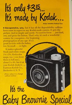 Toss This In Your Trunk To Literally Save Your Camera Gear! Old Cameras, Vintage Cameras, Vintage Ads, Vintage Posters, Antique Cameras, Vintage Stuff, Old Advertisements, Retro Advertising, Retro Ads