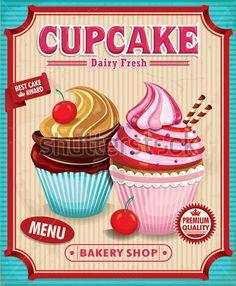 vintage cupcake tags - Google Search