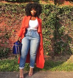 Ideas fitness inspo curvy shape for 2019 - Beauty beauté fashion la mode - FITNESS Curvy Girl Fashion, Black Women Fashion, Look Fashion, Denim Fashion, Plus Size Fashion, Womens Fashion, Autumn Fashion Curvy, Curvy Outfits, Chic Outfits