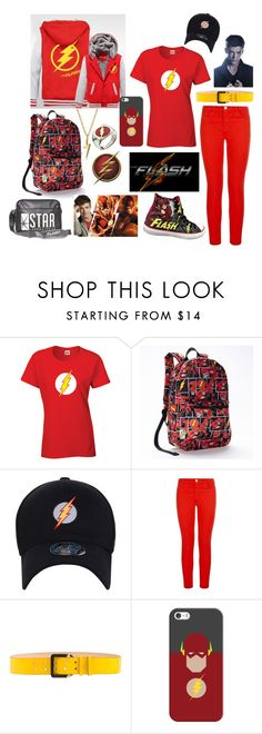 """""""the Flash- Barry Allen"""" by kai-noel ❤ liked on Polyvore featuring J Brand, Dsquared2, Casetify and Bling Jewelry"""