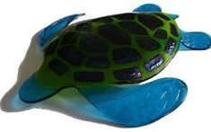 Fused Glass Sculpture- Sea Turtle by charmaine