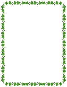 Free four leaf clover border templates including printable border paper and clip art versions. File formats include GIF, JPG, PDF, and PNG. Vector images are also available. Printable Border, Printable Frames, Borders For Paper, Borders And Frames, Shamrock Clipart, St Patricks Day Clipart, Borders Free, Border Templates, Page Borders Design