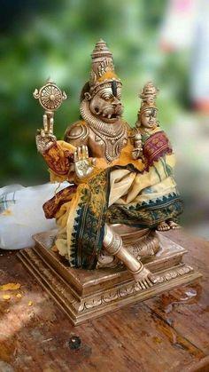 Lakshminarsimha swamy Indian Goddess, Durga Goddess, Altar, Hindu Statues, Lord Ganesha Paintings, Lord Balaji, Lord Krishna Images, Krishna Pictures, Lord Shiva Family