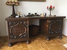 Epic Antik Sehr seltener Schreibtisch mit Stuhl Eiche dunkel um eBay
