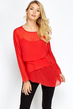 NEW Summer 2016 Fashion: Delicate Layered Asymmetric Blouse