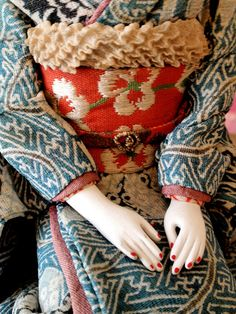 The detail of a Japanese doll