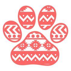 Aztec Paw Svg Cuttable Designs