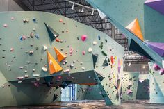 named the 'austin bouldering project', the indoor facility offers 23,000 square feet of climbing surface, with 250 different configurations set and rotated every seven weeks.
