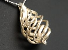 DNA Teardrop Pendant 3d printed Polished Silver (brand new)✖️ More Pins Like This One At FOSTERGINGER @ Pinterest ✖️