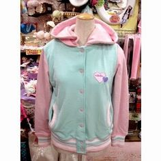Cherry's Pastel Life: Fairy kei DIY: two-coloured hoodies