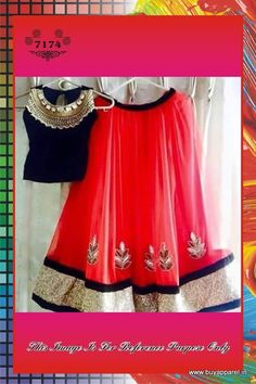 Exclusive Pure Round Net With Heavy Embroidery Black & Red Lehenga.