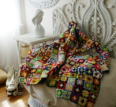 Granny Square Quilt. I love these so much!