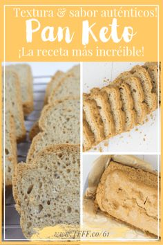 Visit the post for more. Lowest Carb Bread Recipe, Low Carb Bread, Keto Bread, Low Carb Keto, Low Carb Recipes, Vegetarian Keto, Vegan Keto, Pan Cetogénico, Keto Postres