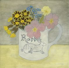 Debbie George 'Rabbit cup and pink primrose' www.debbiegeorge.co.uk