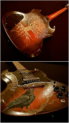 "Gibson SG Custom Design by Reclaimed Guitar Co the ""Poe"""