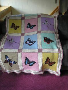butterfly pattern crochet afghan