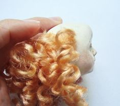 doll's hairs (russian) Сувенирная кукла. Клеим волосы. - Ярмарка Мастеров - ручная работа, handmade