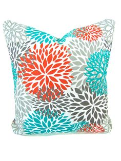 Decorative THROW PILLOWS 20 x 20 Orange Throw by ThePillowCo, $22.95