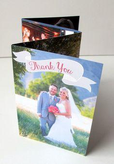Accordion Fold Photo Wedding Thank You Cards  by gwenmariedesigns on Etsy, $3.50
