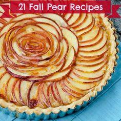 Fabulous Pear Recipes for the Fall #fall #recipes #pears
