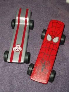 pinewood derby cars spiderman   Found on momentsinmidstream.blogspot.com