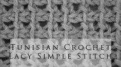 The Tunisian Ocean Stitch:: Tunisian Crochet Stitch :: Right Handed Beginner Crochet Tutorial, Crochet Video, Tunisian Crochet Patterns, Crochet Cardigan Pattern, Crochet Classes, Learn To Crochet, Crochet Wool, Free Crochet, Lidia Crochet Tricot