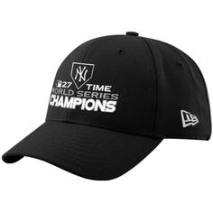 6870d66cce8 New Era New York Yankees Black World Series Champions 27-Time Champions  Adjustable Slouch Hat