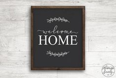 Welcome Home Chalkboard Sign Quote printable Calligraphy Farmhouse Print Home Decor Printable - Welcome Chalkboard, Chalkboard Art Quotes, Chalkboard Designs, Chalkboard Ideas, Home Quotes And Sayings, Sign Quotes, Welcome Home Images, Chalkboard Wall Bedroom, Science Classroom Decorations