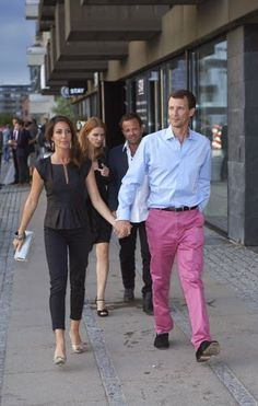 Queen & PrincessesJune 2, 2014  Concert in Copenhagen Saturday night, Joachim and Marie attended the concert of a DJ that took place on the roof of a hotel in Copenhagen. They were accompanied by Britt Siesbye, friend and assistant Marie and Dennis Knudsen, her hairdresser.