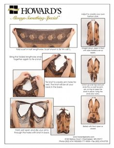 How to Tie a Scarf as a Vest / Howard's Jewelry Blog