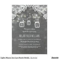 lavender hydrangea jar chalkboard bridal shower card | jars, Baby shower invitations