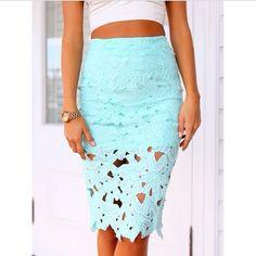 cut out turquoise skirt Bellezza Alla Moda d47da1414748