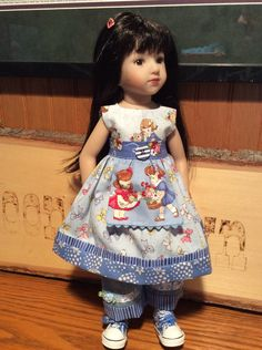 """Old New 1930's, 14"""" doll clothes, Tonner, Betsy McCall, Maru, jeans, dress by judysdollboutique on Etsy"""