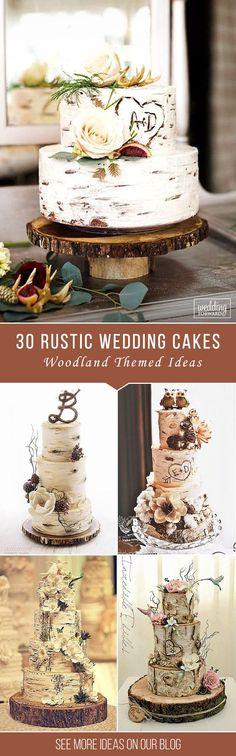 Must-See Rustic Woodland Themed Wedding Cakes | Wedding Forward