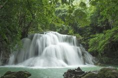 Beautiful Waterfall in Thailand - Wall Mural & Photo Wallpaper - Photowall