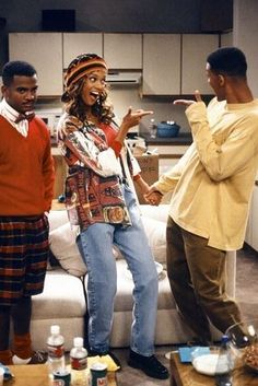 fashion outfits hip hop fresh prince Will Smith, Tyra Banks, and Alfonso Ribeiro in The Fresh Prince of Bel-Air Grunge Outfits, 90s Fashion Grunge, Fashion Outfits, 70s Fashion, Dope Outfits, Will Smith, Linda Evangelista, Denim Forever 21, Prinz Von Bel Air