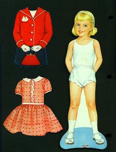Resultado de imagem para 1972 vintage magic mary magnetic paper doll clothes