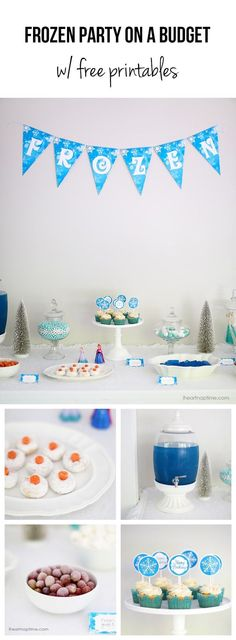 DIY Frozen party ideas on a budget + free printables -perfect for any princess party!