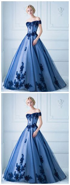 Ball Gown Off the Shoulder Lace Appliqued Long  #prom #promdress #dress #eveningdress #evening #fashion #love #shopping #art #dress #women #mermaid #SEXY #SexyGirl #PromDresses