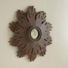 Small Continental Starburst Mirror #modernhistory #interiors #design #homedecor #interiorhomescapes #interiorhomescapes.com
